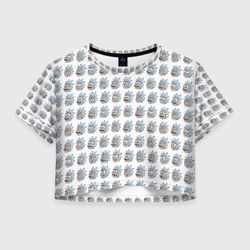 Женская футболка Crop-top 3D Эмоции Рика