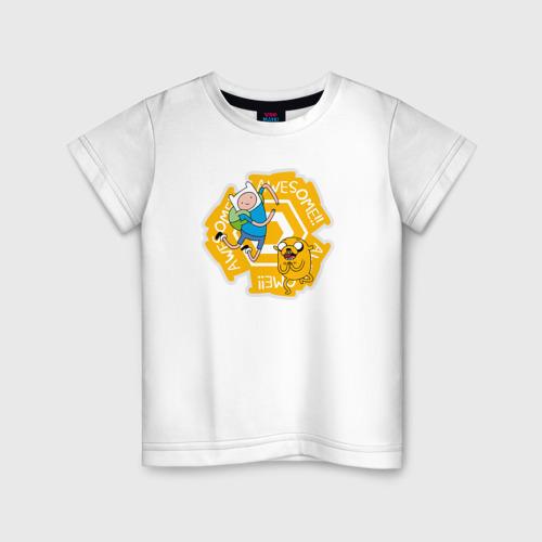 Детская футболка хлопок Awesome Adventure Time