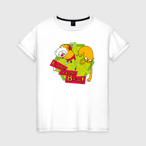 Женская футболка хлопок Come at me Bro