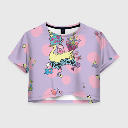 Женская футболка Crop-top 3D Royal Junk