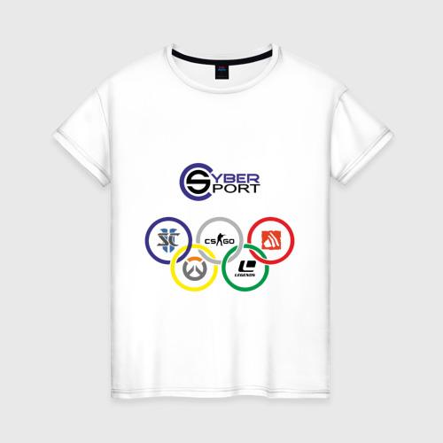 Женская футболка хлопок CyberSport