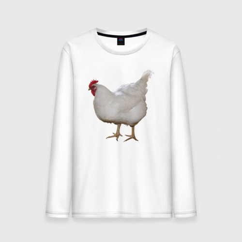 Мужской лонгслив хлопок Белая курица