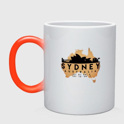 Кружка хамелеон Сидней (Австралия)