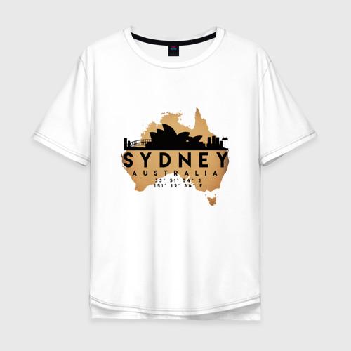 Мужская футболка хлопок Oversize Сидней (Австралия)
