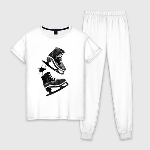 Женская пижама хлопок коньки