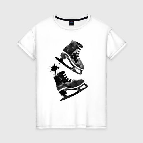 Женская футболка хлопок коньки