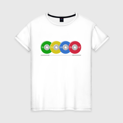Женская футболка хлопок Тяжелая атлетика