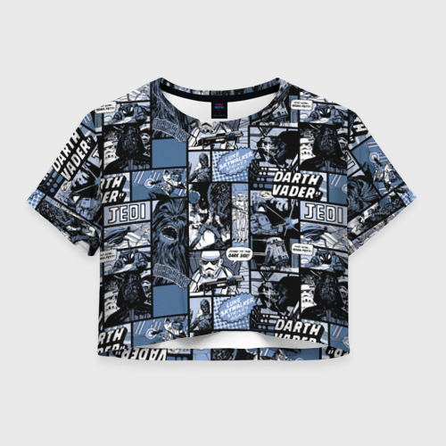 Женская футболка Crop-top 3D  Star Warriors Collage