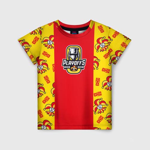 """Детская футболка 3D Плей-офФ ХК \""""Йокерит\"""""""