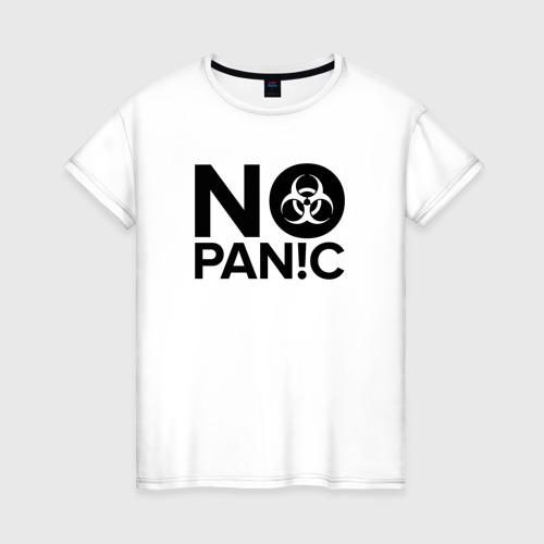 Женская футболка хлопок No panic