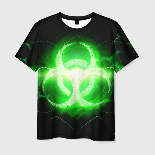 Мужская футболка 3D Биологическая Опасность (Oko)