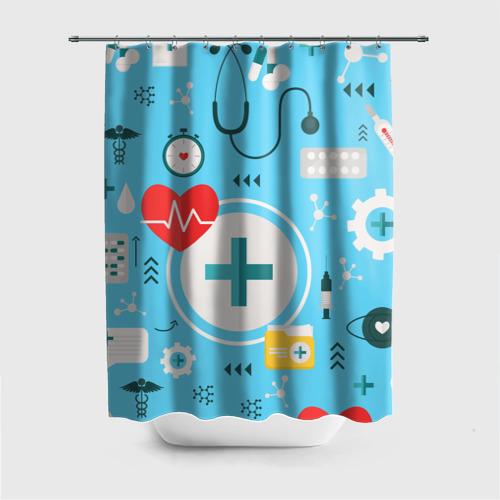Штора 3D для ванной Лучший доктор