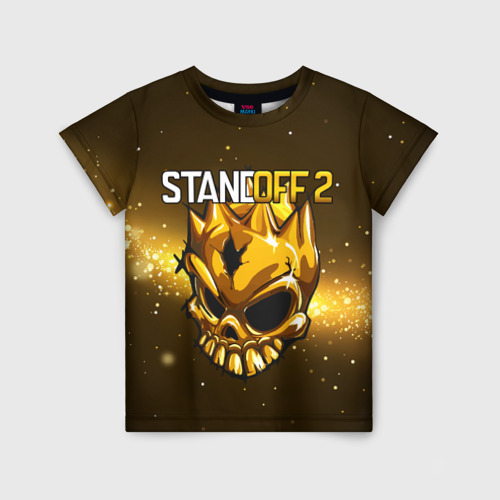 Детская футболка 3D STANDOFF 2 GOLD SKULL