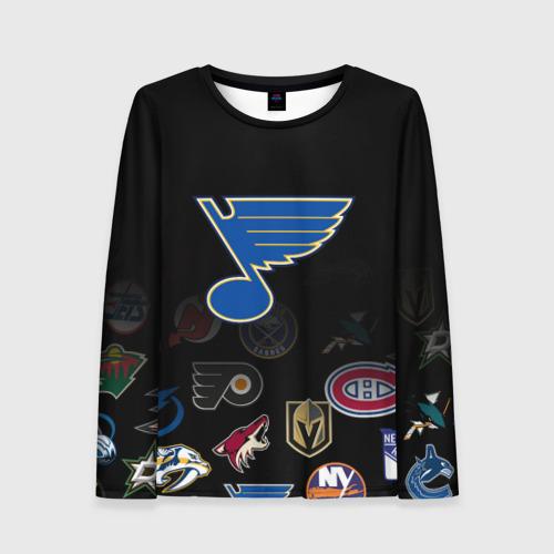 Женский лонгслив 3D NHL St. Louis Blues (Z)