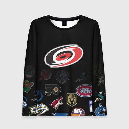 Женский лонгслив 3D NHL Carolina Hurricanes (Z)