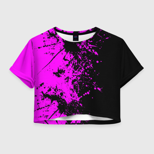 Женская футболка Crop-top 3D Чёрная магия