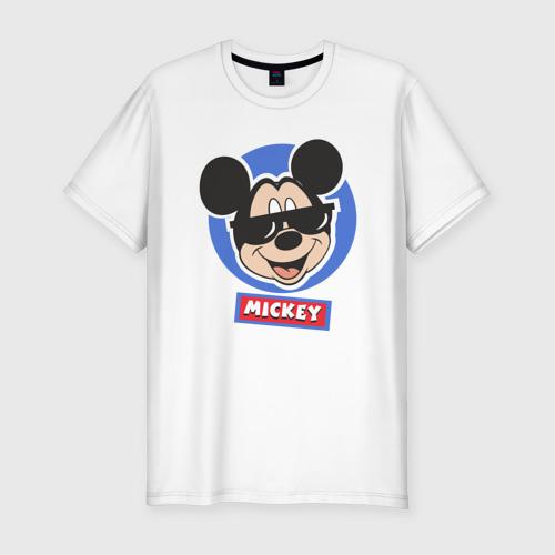 Мужская футболка хлопок Slim Disney.Микки Маус
