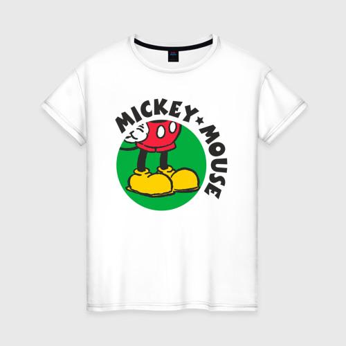 Женская футболка хлопок Ножки Микки