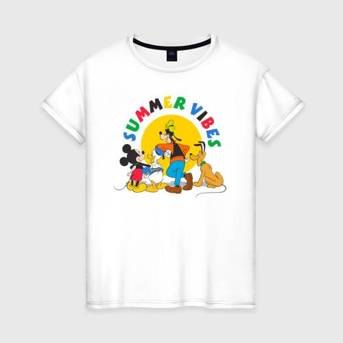 Женская футболка хлопок Summer Vibes