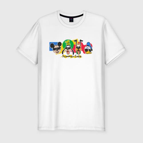 Мужская футболка хлопок Slim Летняя Команда