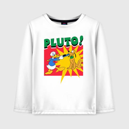 Детский лонгслив хлопок Pluto!