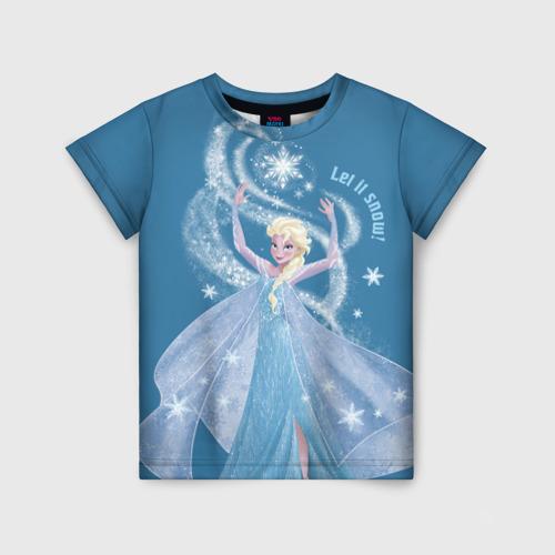 Детская футболка 3D Эльза. Холодное сердце