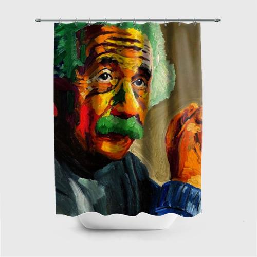Штора 3D для ванной Энштейн