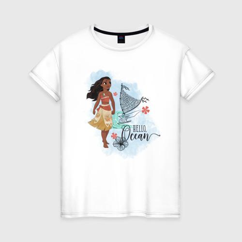 Женская футболка хлопок Hello Ocean
