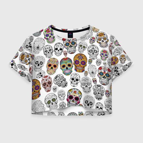 Женская футболка Crop-top 3D Мексиканский праздник