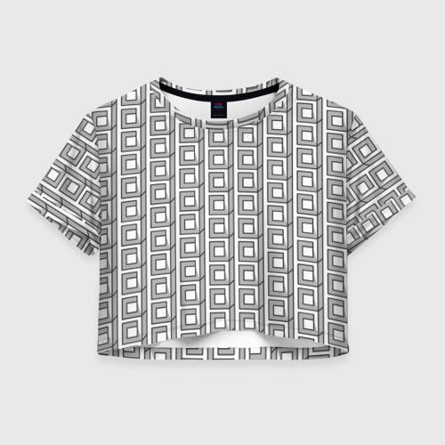 Женская футболка Crop-top 3D Архитектура