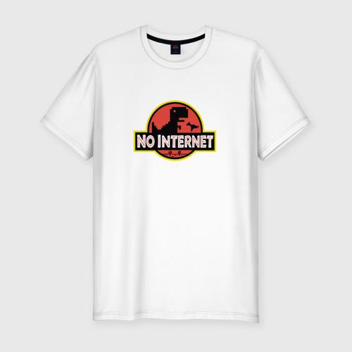Мужская футболка хлопок Slim NO INTERNET