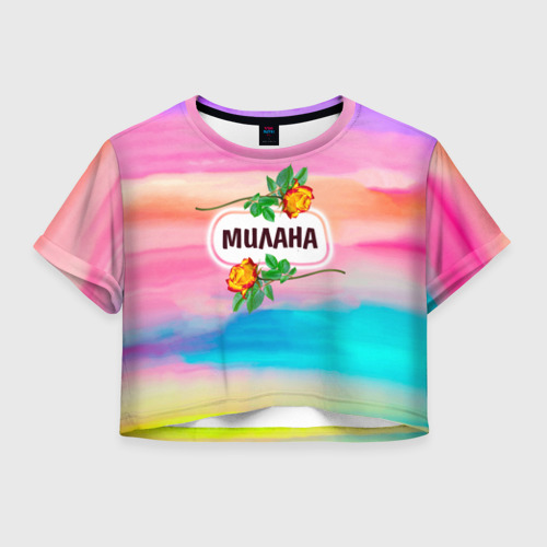 Женская футболка Crop-top 3D Милана