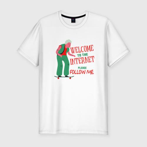 Мужская футболка хлопок Slim Welcome to the Internet