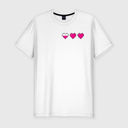 Мужская футболка хлопок Slim Здоровье pixel