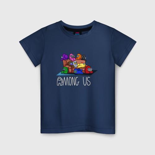 Детская футболка хлопок Among US chill party