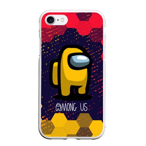 Чехол для iPhone 7/8 матовый AMONG US / АМОНГ АС