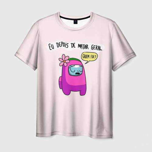 Мужская футболка 3D Among Us   Quem Foi