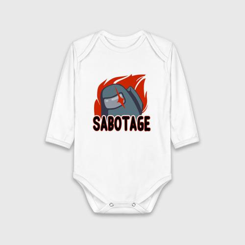 Детское боди хлопок Among Us Sabotage