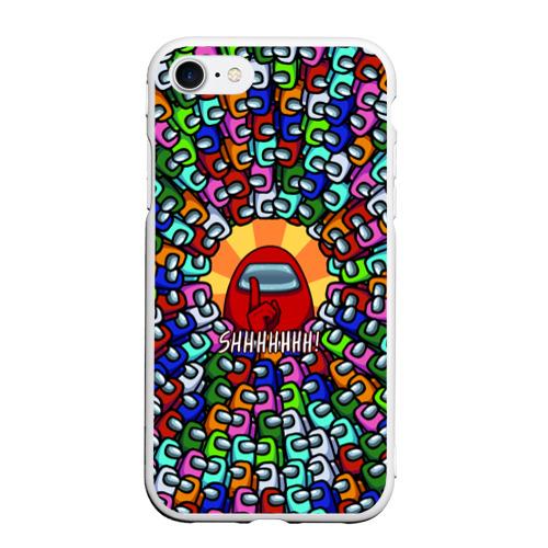 Чехол для iPhone 7/8 матовый Among Us SHHHHHHH!
