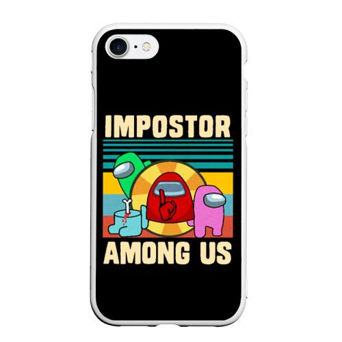 Чехол для iPhone 7/8 матовый Among Us IMPOSTOR