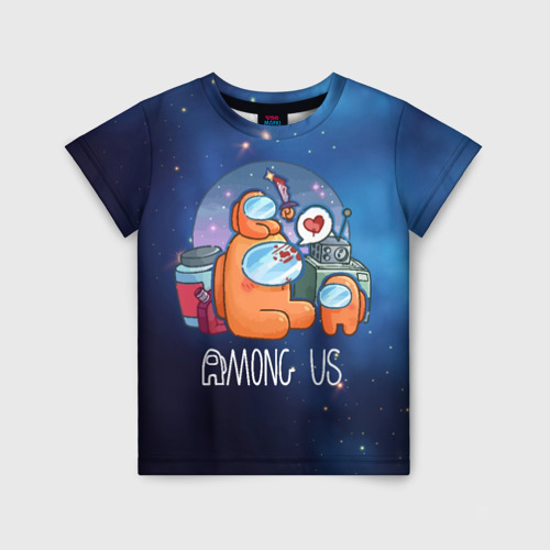 Детская футболка 3D Among Us Space