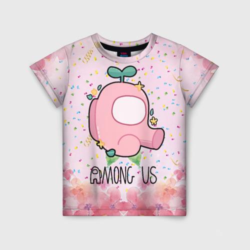 Детская футболка 3D Among Us girl