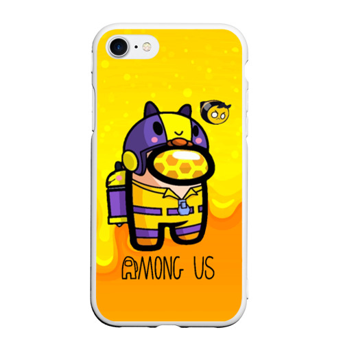Чехол для iPhone 7/8 матовый Among Us пчела