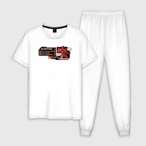Мужская пижама хлопок Deadpool health bar