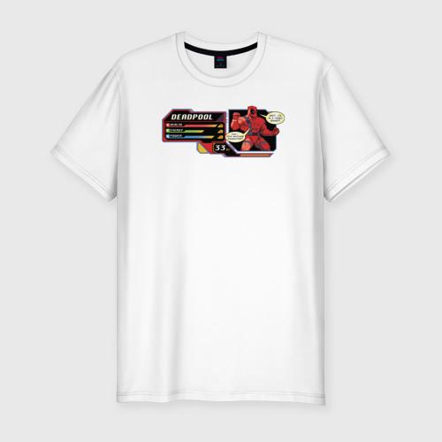Мужская футболка хлопок Slim Deadpool health bar