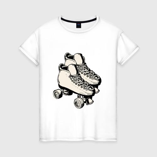 Женская футболка хлопок Ролики