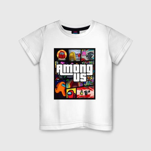 Детская футболка хлопок AMONG US GTA