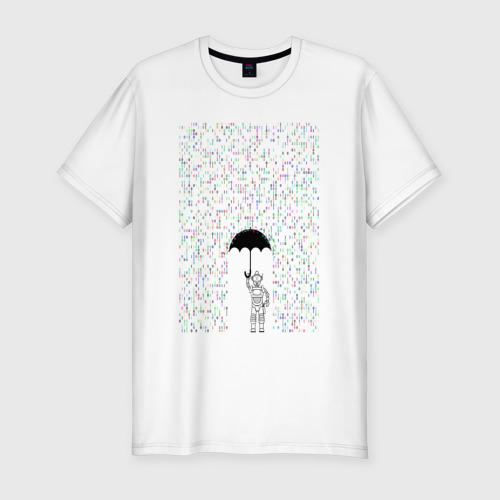 Мужская футболка хлопок Slim Технологии
