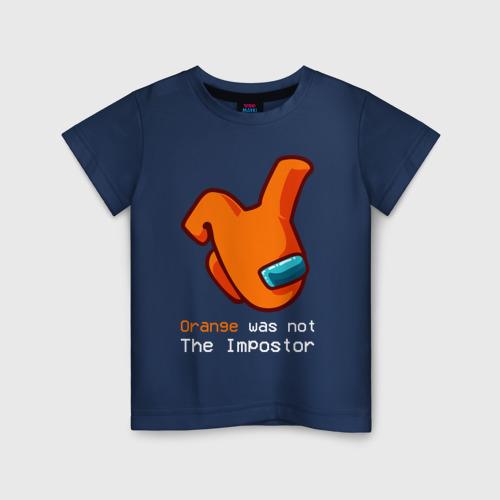 Детская футболка хлопок AMONG US - ORANGE