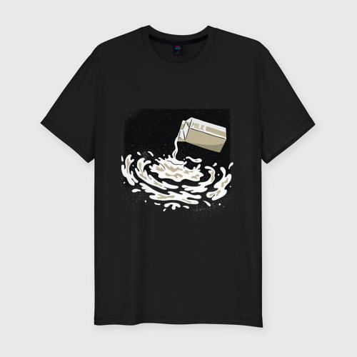 Мужская футболка хлопок Slim Галактика Млечный путь прикол